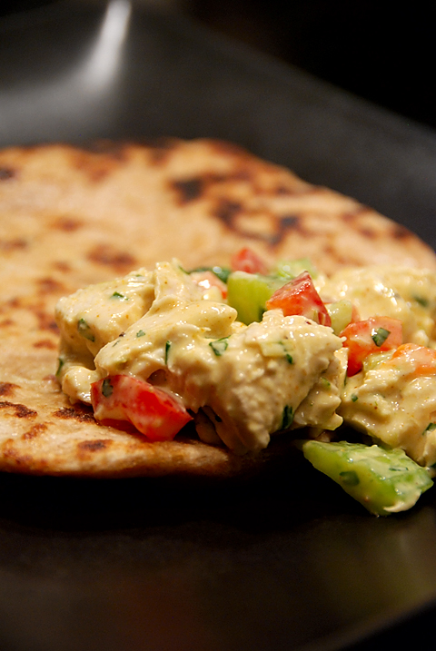 curry salad + naan