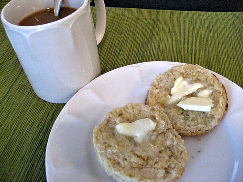 scone + coffee