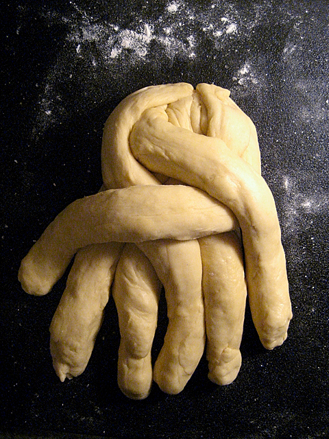 half-braided challah: or, cthulhu!