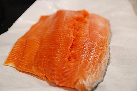 a nice filet of wild salmon, de-boned