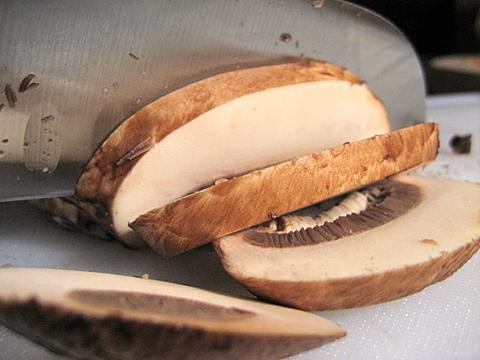 little strips of mushroom