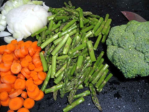 don't you feel healthy just looking at all the veggies?
