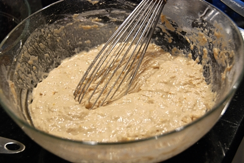 the batter, mixed together