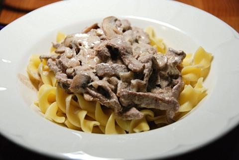 pasta + meat + cream = excellent