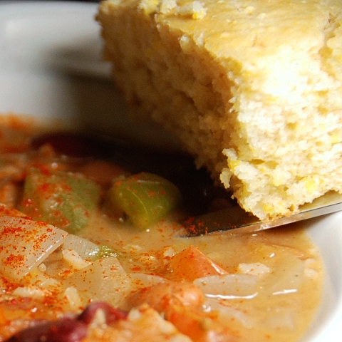 cornbread in a teaser photo for our next post!