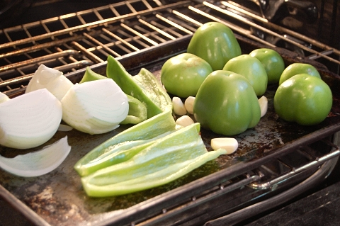 sheet pan, oil, veggies: check