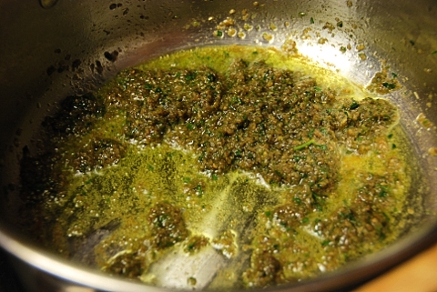 curry paste + oil
